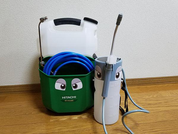【即作業開始!現場での準備必要なし!】エクサパワーMOVE(ムーヴ) - コードレス・特殊屈曲洗浄ガン付属・エアコン洗浄機